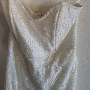 Dresses & Skirts - White lace dress strapless